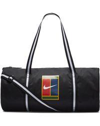 Nike Borsone da tennis Court Heritage - Nero