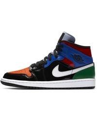 Nike Air Jordan 1 Mid Se Shoe - Black