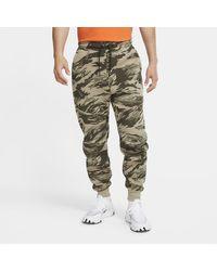 Nike Tech Fleece Joggingbroek Met Camouflageprint - Grijs