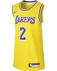 buy online f3a48 a8da2 Lonzo Ball Los Angeles Lakers Icon Edition Swingman Jersey Nba Jersey -  Yellow