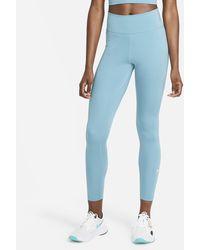 Nike Dri-fit One Mid-rise Leggings - Blue