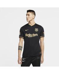 Nike F.c. Barcelona 2020/21 Stadium Away Football Shirt - Black