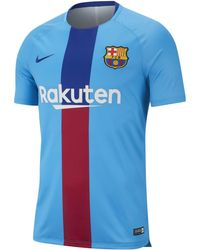6a32bc477 Nike - Dri-fit Fc Barcelona Squad Short-sleeve Graphic Football Top - Lyst