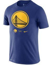 Nike T-shirt Golden State Warriors Logo Dri-FIT NBA - Blu