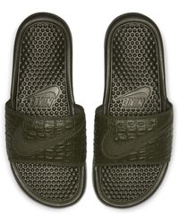 Nike Benassi Jdi Se Slide - Green