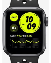 Nike Apple Watch Series 6 With Sport Band 44mm Space Gray Aluminum Case - Black