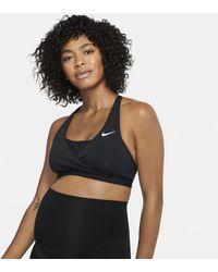 Nike Bra imbottito a sostegno medio (M) Swoosh - Nero