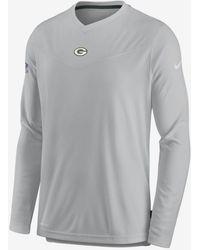 Nike Dri-fit Sideline Coaches Long-sleeve V-neck T-shirt - Gray