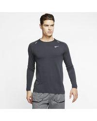 Nike Techknit Ultra Long-sleeve Running Top - Black
