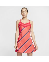 Nike Court Tennis Dress - Red