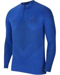 Nike VaporKnit Chelsea FC Strike Drill-Fußballoberteil für - Blau