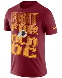 new concept cd435 3da4f Nike Synthetic Nfl Washington Redskins Color Rush Limited ...