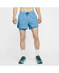 Nike Flex Stride 2-in-1-Laufshorts - Blau