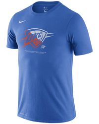 Nike T-shirt Oklahoma City Thunder Dri-FIT NBA - Blu