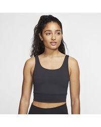 Nike - Top corto Infinalon Yoga Luxe - Lyst
