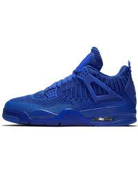 Nike Chaussure Air Jordan 4 Retro Flyknit pour - Bleu