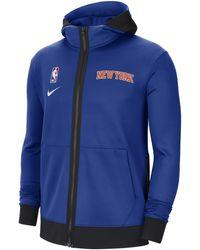 Nike New York Knicks Showtime Therma Flex Nba Hoodie - Blue