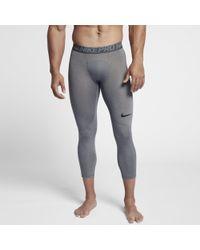 Nike - Tights da training a 3/4 Pro - Lyst