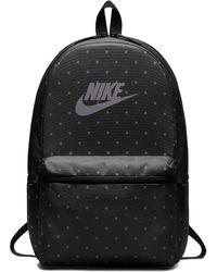 Nike - Sportswear Heritage Printed Backpack (black) - Lyst