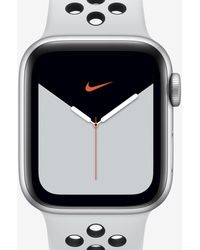 Nike Apple Watch Series 5 With Sport Band 40mm Silver Aluminum Case - Black