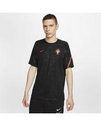 Nike Portugal Kurzarm-Fußballoberteil - Schwarz