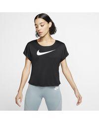 Nike Haut de runningà manches courtes Swoosh pour - Noir