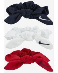 Nike Gathered Hair Ties - White
