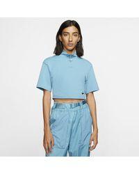 Nike Hautà col montant et manches courtes Sportswear Swoosh pour - Bleu