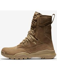 """Nike Sfb Field 2 8"""" Leather Tactical Boots - Brown"""