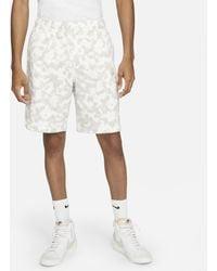 Nike Shorts in French Terry Sportswear Club - Bianco