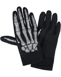 Nike Therma-sphere' Skeleton Crew' Running Gloves - Black