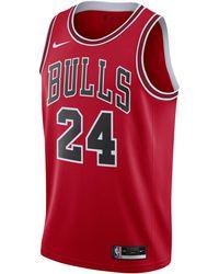 Nike Lauri Markkanen Bulls Icon Edition 2020 NBA Swingman Trikot - Rot