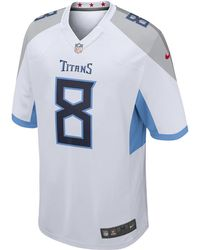Nike - Nfl Tennessee Titans (marcus Mariota) Men s Football Away Game Jersey  - Lyst b7915ea85