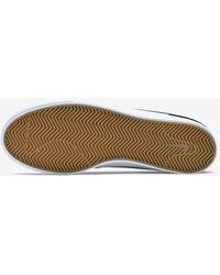 Nike Sb Charge Mid Canvas Skate Shoe in Black,Black,White,White ...