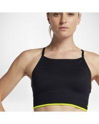 146dc6ea320 Lyst - Nike Seamless Women s Light Support Sports Bralette in Black
