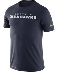 Nike Dri-FIT (NFL Seahawks) -T-Shirt - Blau