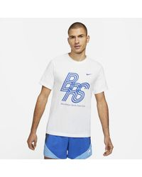 Nike T-shirt da running Dri-FIT BRS - Bianco