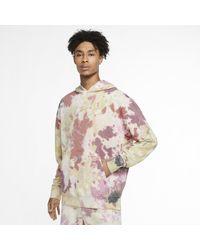 Nike Sportswear Hoodie im Batik-Design - Rot
