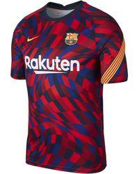 Nike F.c. Barcelona Short-sleeve Football Top - Red