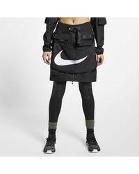 Nike X Mmw Womens 2-in-1 Skirt - Black