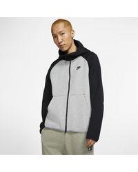 Nike Sportswear Tech Fleece -Hoodie mit durchgehendem Reißverschluss - Grau