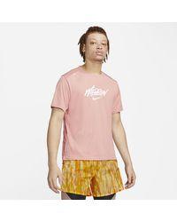 Nike Rise 365 Wild Run Kurzarm-Laufoberteil - Pink