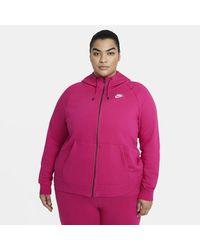 Nike Sportswear Essential Full-zip Hoodie Pink