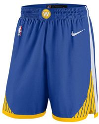 3cad88e95809b3 Lyst - Nike Golden State Warriors 2017-2018 Icon Edition Bermuda ...
