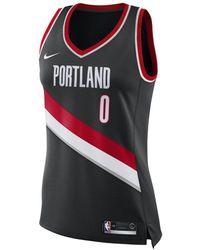 Nike C.j. Mccollum Trail Blazers Icon Edition Nba Swingman Jersey - Black