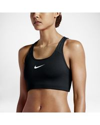 b707197b559a6 Lyst - Nike Pro Fierce Women s Printed Medium Support Sports Bra in ...