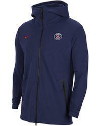 Nike Paris Saint-germain Tech Pack Full-zip Hoodie - Blue
