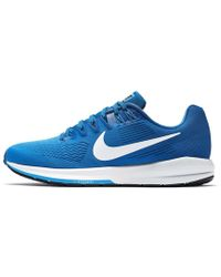 8914b38a7ed Lyst - Nike Air Zoom Structure 21 Shield Men s Running Shoe in Blue ...