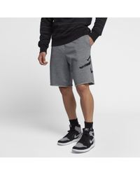 Nike Shorts in fleece Jordan Jumpman Logo - Grigio