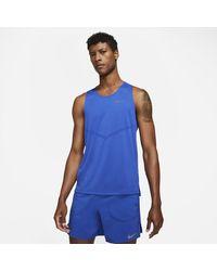 Nike Dri-FIT Rise 365 Lauf-Tanktop - Blau